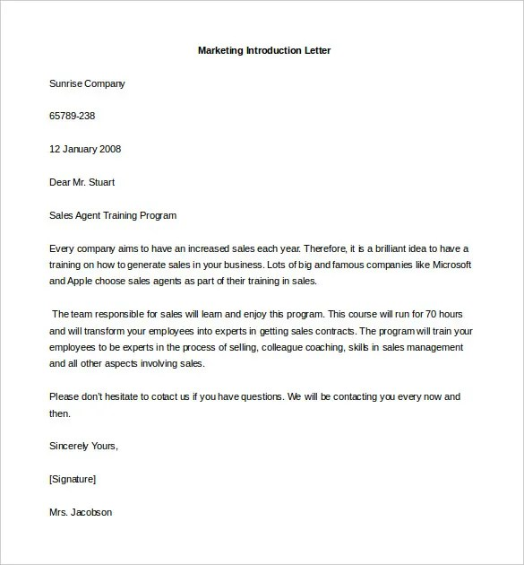 business introduction letter format - Towerssconstruction