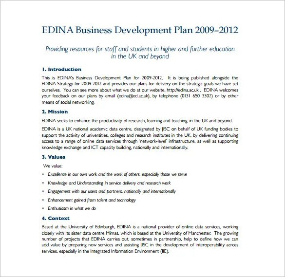 14+ Development Plan Templates \u2013 Free Sample, Example, Format - business development plan template