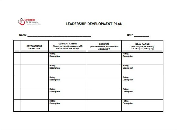 Development Plan Template \u2013 8+ Free Word, PDF Documents Download