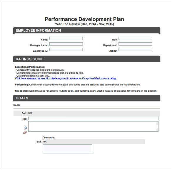 10+ Development Plan Templates u2013 Free Sample, Example, Format - example of a personal development plan sample