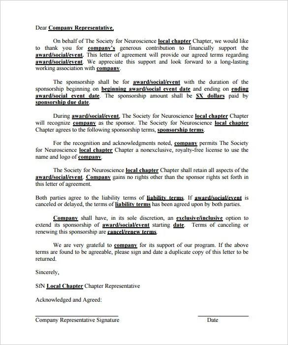45+ Sponsorship Letter Templates - PDF, DOC Free  Premium Templates
