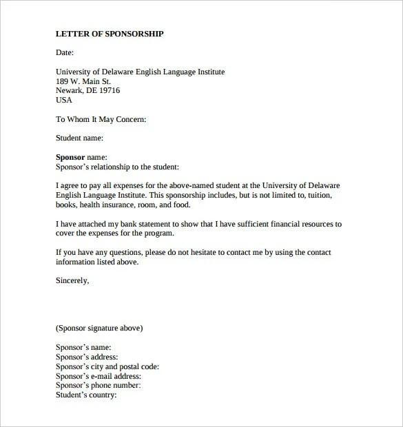 sponsorship letter examples - Romeolandinez - example sponsor letter
