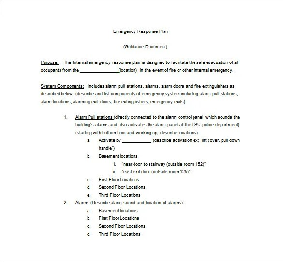 14+ Emergency Plan Templates - Free Sample, Example, Format Download