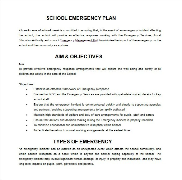 Emergency Action Plan Sample | ophion.co