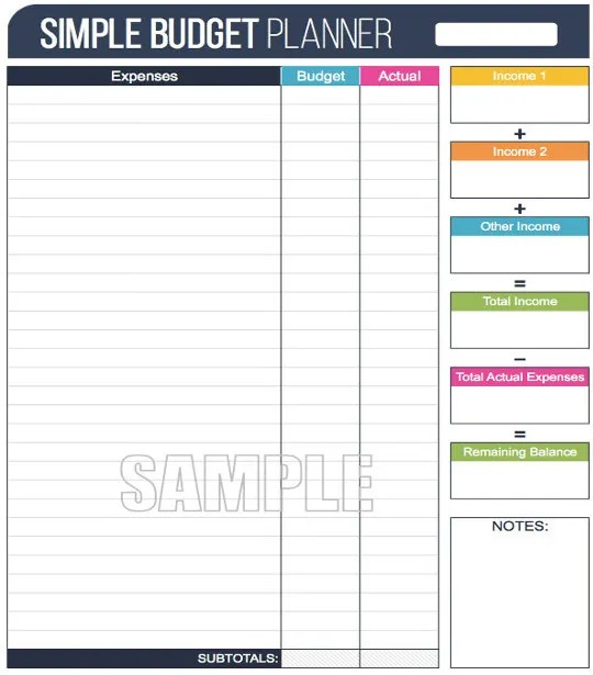 12+ Simple Budget Templates - Free Sample, Example, Format Download - Sample Budget Sheet