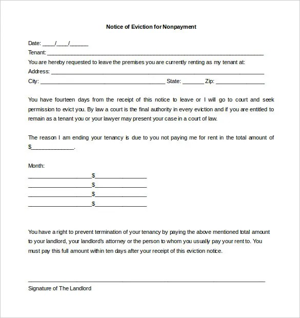5+ Eviction Letter Templates - Free Sample, Example Format Download