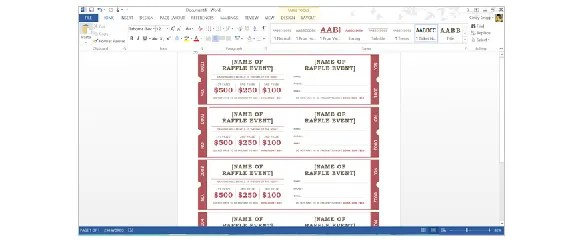 How to Create Tickets in Microsoft Word \u2013 Tutorial Free  Premium - Microsoft Word Event Ticket Template