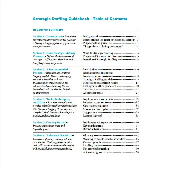 Staffing Plan Template \u2013 9+ Free Word, Excel, PDF Documents Download
