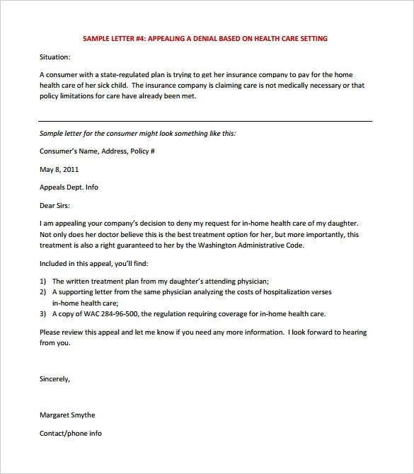 13+ Appeal Letter Templates - Free Sample, Example Format Download - How To Write Appeal Letter Sample