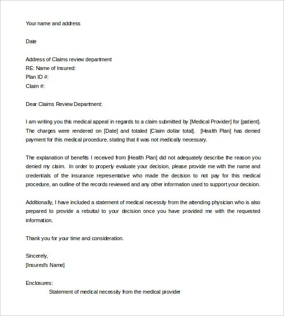11+ Appeal Letter Templates - Free Sample, Example Format Download - example of appeal letter