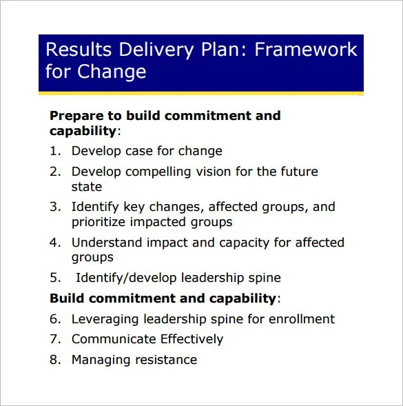 Change Management Plan Template \u2013 6+ Free Word, PDF Documents