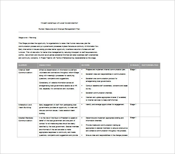 11+ Change Management Plan Templates - Free Sample, Example, Format