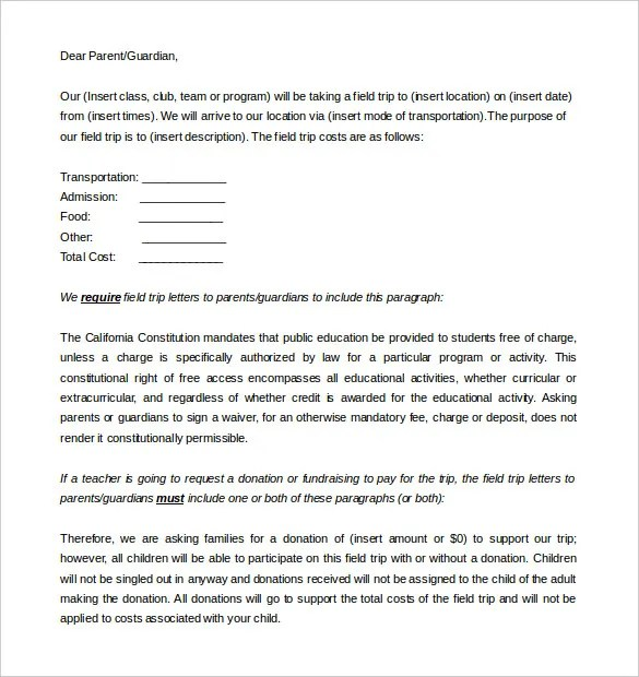 8+ Parent Letter Templates - Free Sample, Example Format Download
