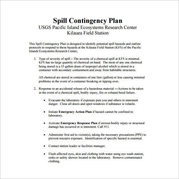 13+ Contingency Plan Templates \u2013 Free Sample, Example, Format - contingency plan example