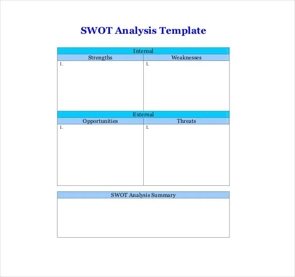 Free SWOT Analysis Template - 10+ Free Word, Excel, PDF Documents