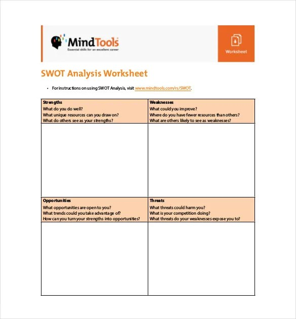 Free SWOT Analysis Template - 11+ Free Word, Excel, PDF Documents - free swot analysis template