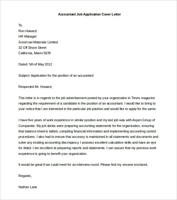 Free Cover Letter Template - 50+ Free Word, PDF Documents Free - finance cover letter examples
