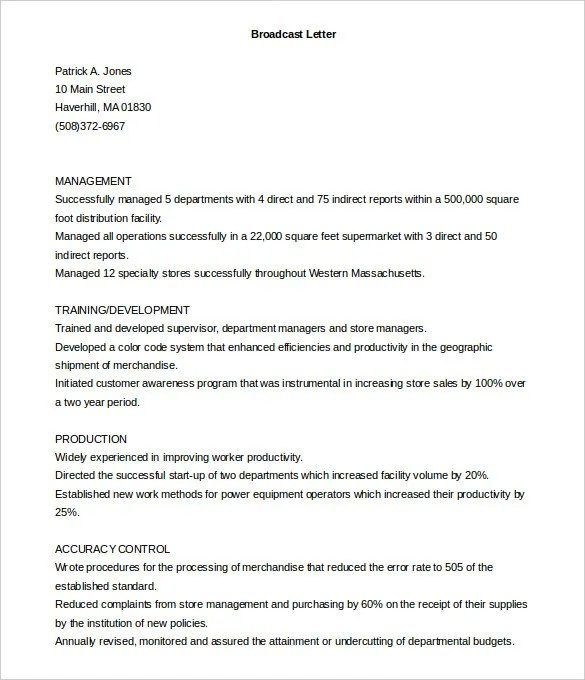 printable broadcast cover letter template free download create an - resume sample letters application