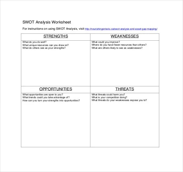 Healthcare SWOT Analysis Template - 8+ Free Word, Excel, PDF - format for swot analysis
