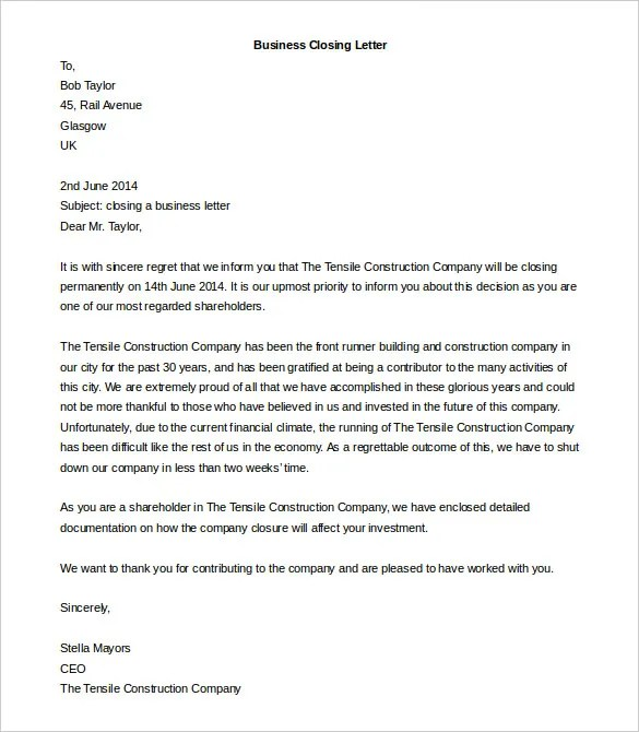 Business Letter Template - 44+ Free Word, PDF Documents Free - company business letter