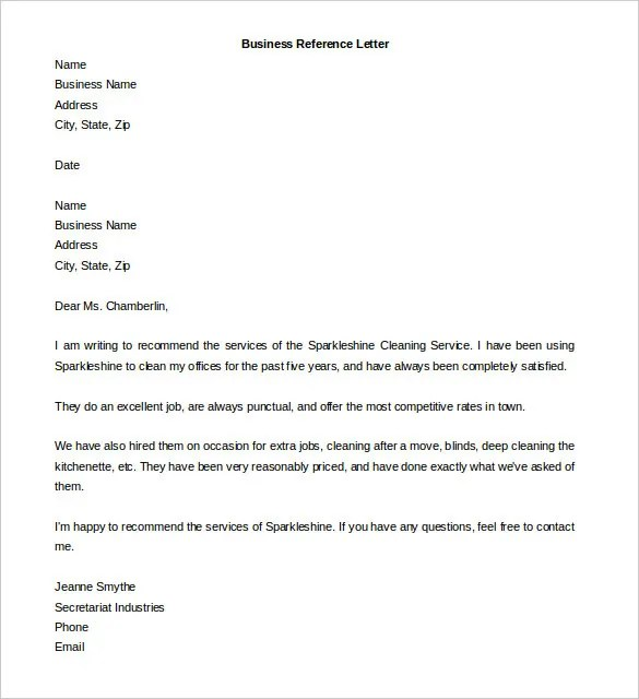 Free Reference Letter Templates \u2013 32+ Free Word, PDF Documents - email reference letter template