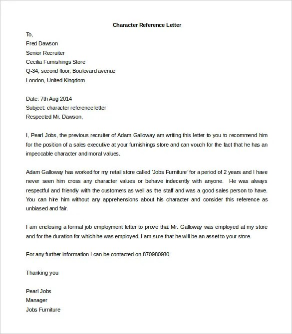 Free Reference Letter Templates - 24+ Free Word, PDF Documents - reference word template