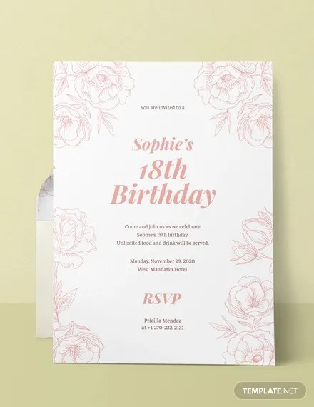 58+ Sample Birthday Invitation Templates - PSD, AI, Word Free