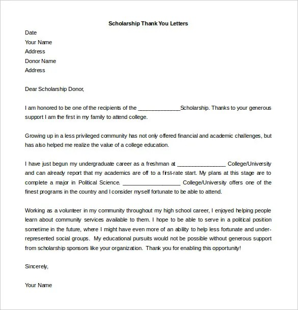 word thank you letter template - thank you letter template