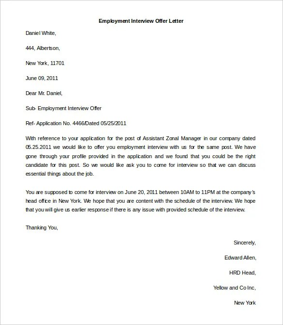Free Employment Letter Template \u2013 28+ Free Word, PDF Documents - letter of employment template