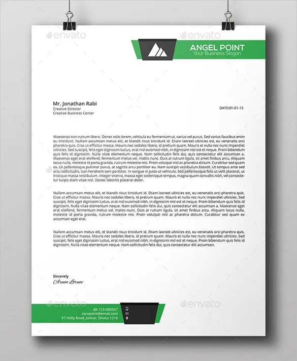 Corporate Letterhead Template Global Communications Company