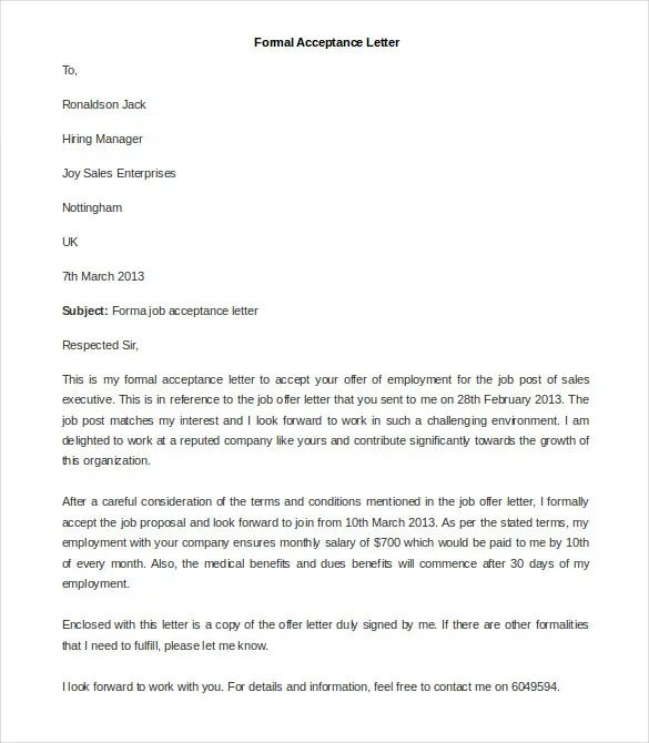 23 best formal letter templates free sample example