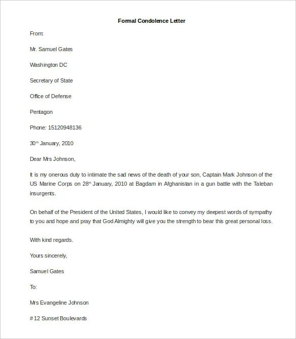 35+ Best Formal Letter Template - Free Sample, Example Format Free