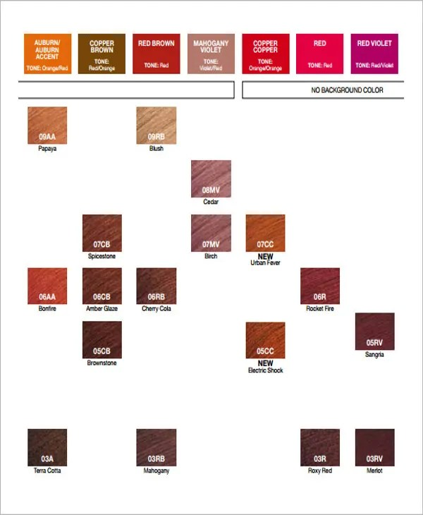 General Color Chart Template General Color Chart Template - general color chart template