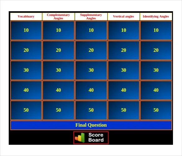 10+ Jeopardy Game Templates - Free Sample, Example, Format - sample jeopardy powerpoint