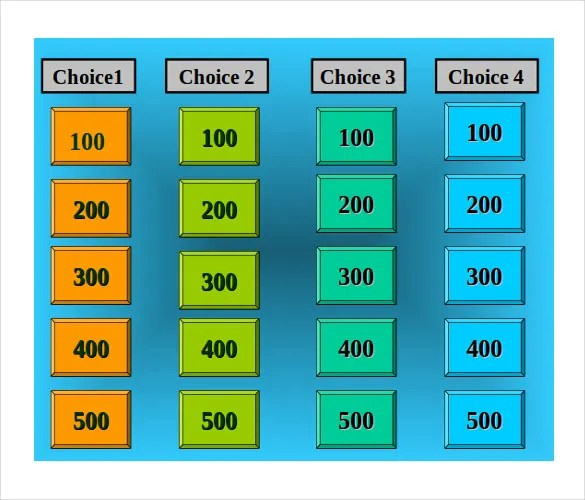 8+ Free Jeopardy Templates - Free Sample, Example, Format Download - sample jeopardy powerpoint