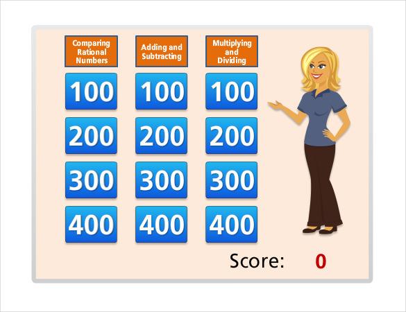 8+ Classroom Jeopardy Templates - Free Sample, Example, Format - classroom jeopardy template