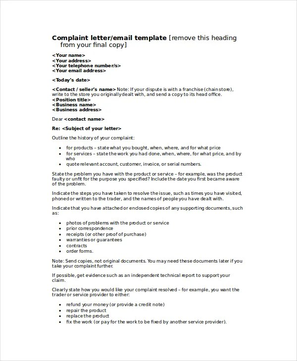 Top Result 51 Lovely formal Letter Of Complaint to Employer Template - complaint email template