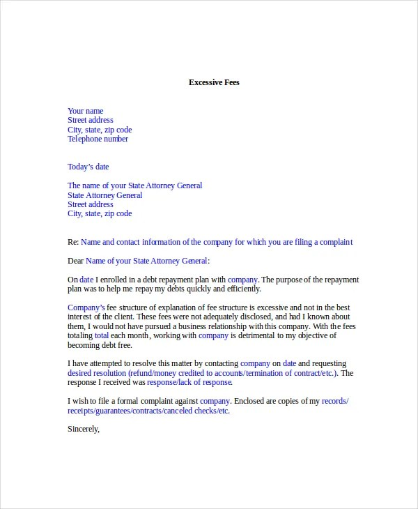 Complaint Letter Template - 8+ Free Word, PDF Documents Download