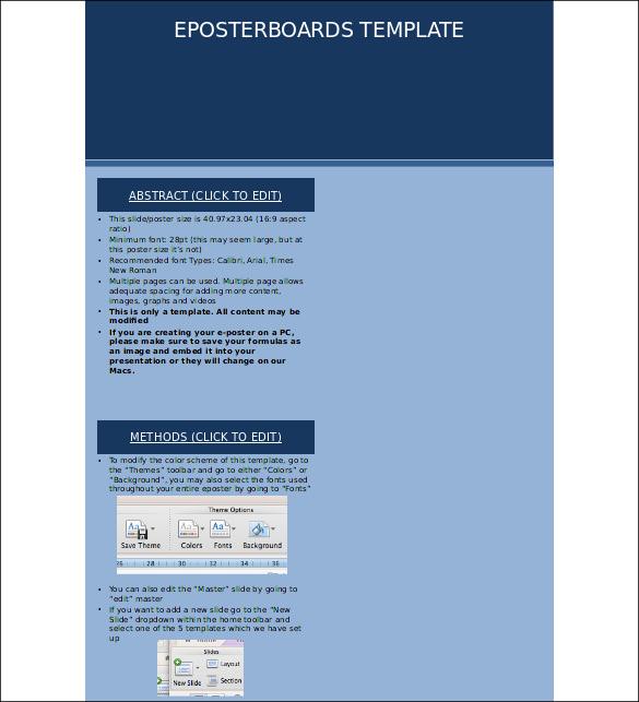 Keynote Poster Templates \u2013 11+ Free PPT, PDF Documents Download