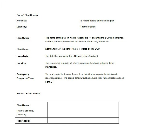 Business Continuity Plan Template - 11+ Download Free Word, PDF