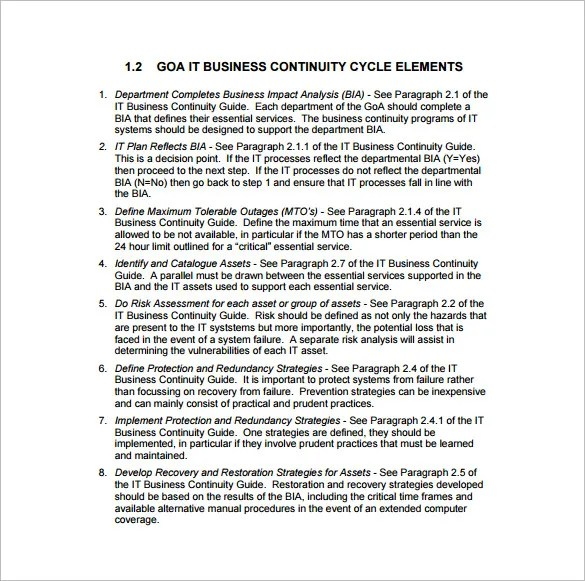 Business Continuity Plan Template - 11+ Download Free Word, PDF - free business continuity plan template