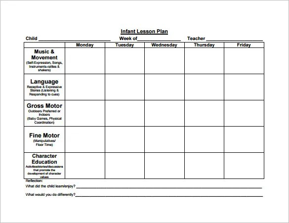 8+ Lesson Plan Templates \u2013 Free Sample, Example, Format Download
