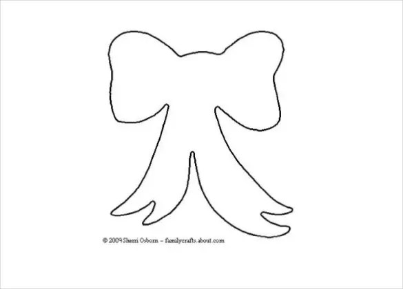 10+ Paper Bow Templates \u2013 Free Sample, Example, Format Download