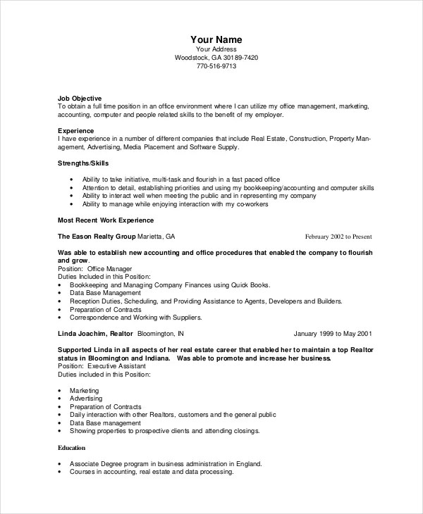 Judge Rotenberg Educational Center Bookkeeper Resume Template 5 Free Word Pdf Documents