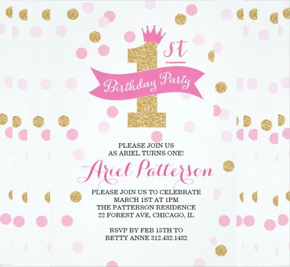 32+ Birthday Party Invitation Templates \u2013 Free Sample, Example - birthday party card template