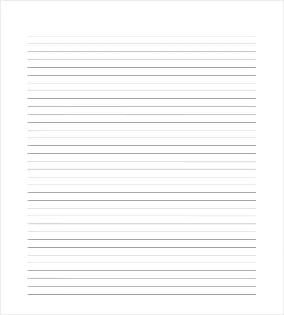 8+ Ruled Lined Paper Templates u2013 Free Sample, Example, Format - sample lined paper