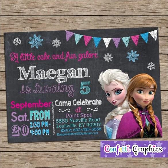 23+ Frozen Birthday Invitation Templates - PSD, AI, Vector EPS