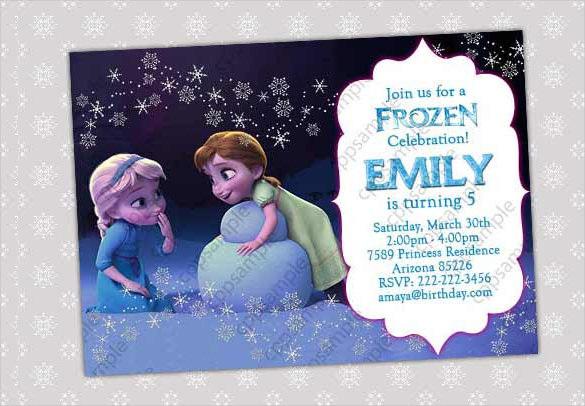 26 Frozen Birthday Invitation Templates Psd Ai Eps
