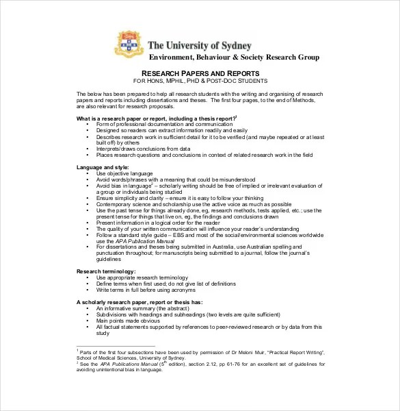 8+ Research Paper Outline Templates \u2013 Free Sample, Example, Format