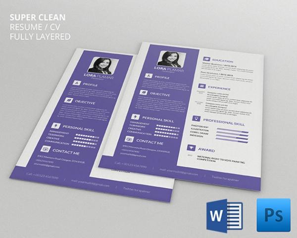 Microsoft Word Resume Template u2013 99+ Free Samples, Examples - resume download free word format